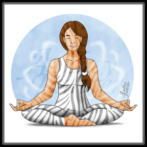 illustration avatar zen zebre meditation haut potentiel
