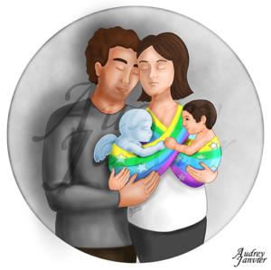 illustration Portrait Famille parange