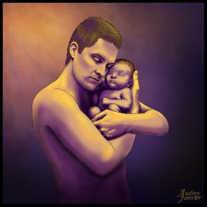 Portrait illustré Père et fils