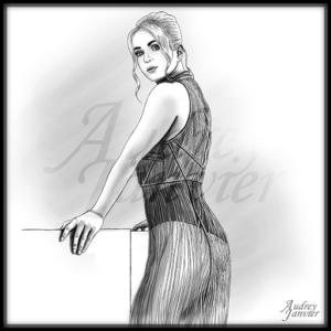 Elina Svitolina Tenniswoman dessin-Audrey-Janvier