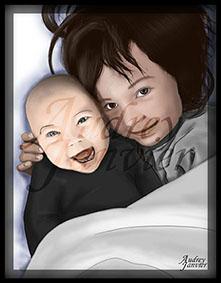 Portrait réaliste enfant bebe Audrey Janvier