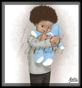 Illustration Portrait Illustré Enfant Audrey Janvier