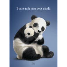 Carte A6 Panda et son bébé, issue du livre Bonne nuit mon petit