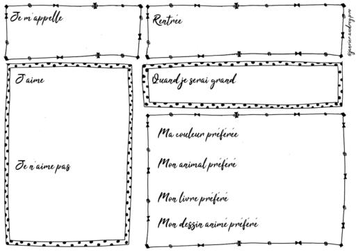 Modele de Pancarte pour la Rentrée