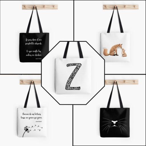sacs-Collection Zen et Zèbre et bonne nuit mon petit - disponible sur la boutique Redbubble
