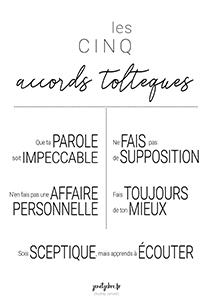 Affiche Les accords toltèques N°3 Style Masculin Shop sur la boutique Redbbuble