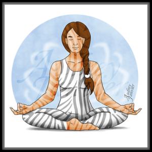 Avatar ZenEtZebre web illustration illustration avatar zen zebre meditation haut potentiel