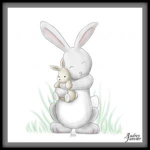 illustration lapin de Pâques