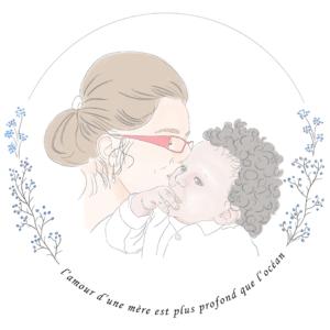 Portrait illustré Mère et fils