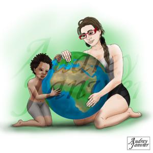 illustration planete protection environnement ecologie bd