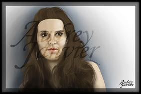 Illustration Portrait Illustré  Audrey Janvier