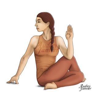 illustration de yoga Audrey Janvier