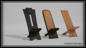 Chaises Africaine Image de Synthèse 3D infographie Audrey Janvier