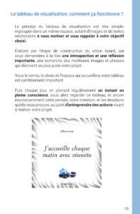 Livre d'Audrey Janvier, Reussir Grace Au Tableau de Visualisation Page 19
