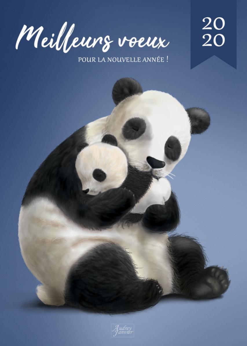 CarteVoeux Panda (1)